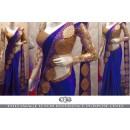 Bollywood Replica - Wedding Wear Blue Saree - KT-3112-D