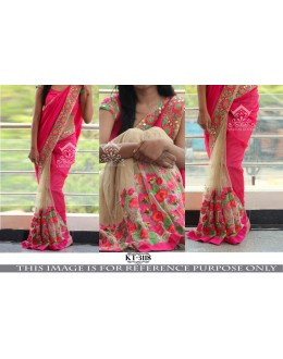 Bollywood Replica - Wedding Wear Pink & Beige Saree - KT-3118