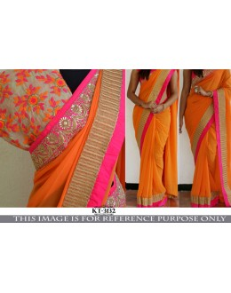 Bollywood Replica - Party Wear Light Orange Georgette Saree - KT-3132