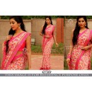 Bollywood Replica - Floral Printed Party Wear Pink Saree - KT-3137