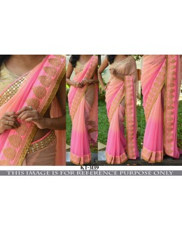 Bollywood Replica - Party Wear Shaded Pink Saree - KT-3139