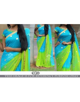 Bollywood Replica - Party Wear Blue & Green Georgette Saree - KT-3155
