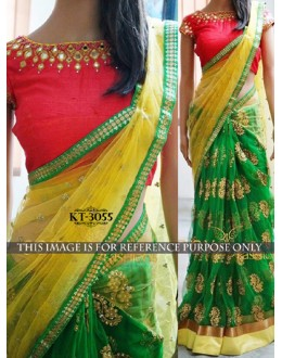 Bollywood Replica - Designer Green Saree - KT-3055