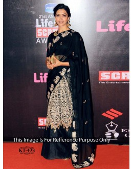 Bollywood Replica - Deepika Padukone Designer Black Saree - KT-473