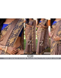 Bollywood Replica- Designer Brown Silk Georgette Saree - KT-3125