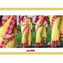 Bollywood Replica - Designer Pink & Yellow Saree - Mk-505