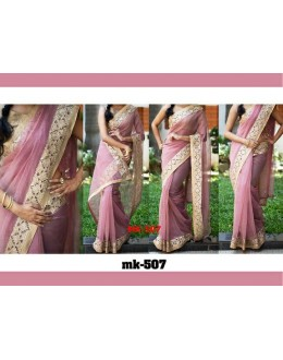 Bollywood Replica - Designer Light Pink Saree - Mk-507