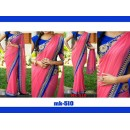 Bollywood Replica - Designer Pink & Blue Saree - Mk-510