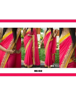 Bollywood Replica - Designer Red & Yellow Saree - Mk-512