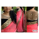 Bollywood Replica - Designer Pink & Black Saree - Mk-705