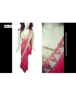 Bollywood Replica - Designer Peach Saree - Mk-709