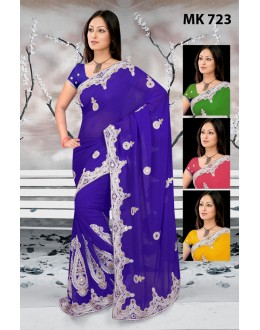 Bollywood Replica - Designer Blue Saree - Mk-723
