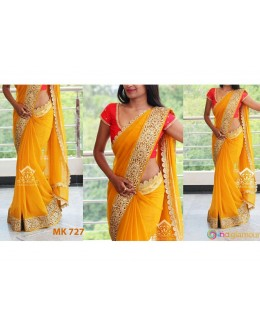 Bollywood Replica - Designer Yellow & Orange Saree - Mk-727