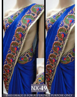 Bollywood Replica - Party Wear Blue Saree  - NX-49