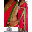 Bollywood Replica - Wedding Wear Pink & Green Saree  - NX-52
