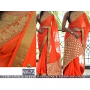 Bollywood Replica - Wedding Wear Orange Georgette Saree  - NX-72