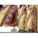 Bollywood Replica - Wedding Wear Beige Saree  - NX-82