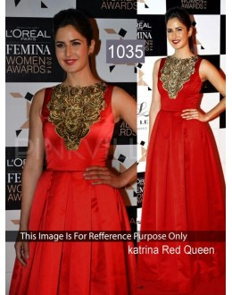 Bollywood Replica- Katrina Kaif Designer Red Gown - 1035