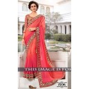 Pedding Jacquard Silk Georgette Pink Saree - 1506