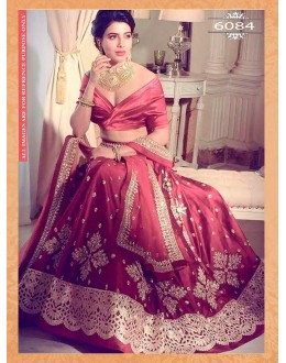 Bollywood Style - Bridal Wear Maroon Zoya Silk Lehenga Choli - 6084