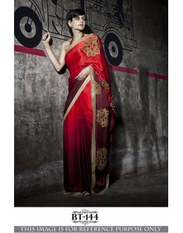 Bollywood Inspired -Mandira Bedi In Shaded Red Saree - BT-144