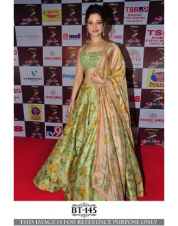 Bollywood Style - Tammanah Bhatia In Green Silk Lehenga Choli - BT-145