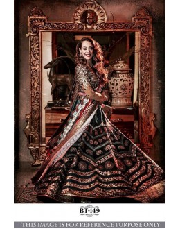 Bollywood Style - Hazel Keech In Multi-Colour Lehenga Choli - BT-149