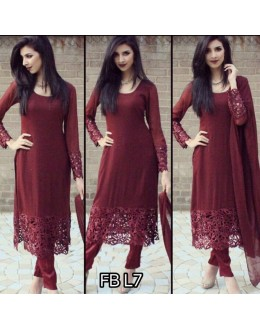 Bollywood Replica - Party Wear Maroon Georgette Salwar suit - FB-L7