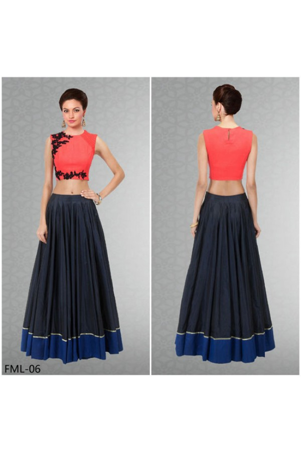 Bollywood Replica - Party Wear Multi-Colour Crop Top Lehenga - FML-06