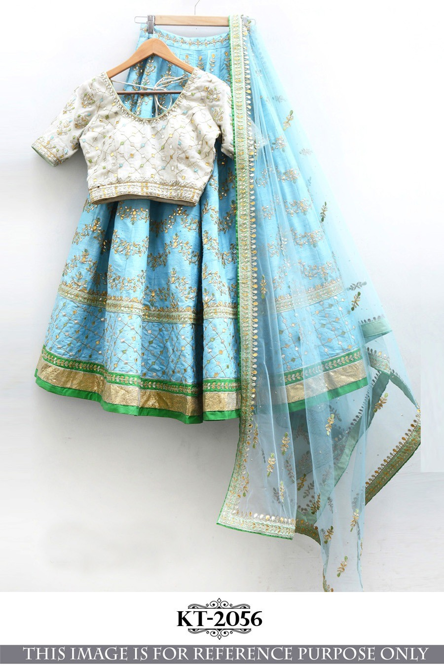 Bollywood Style - Party Wear blue Silk Lehenga Choli - KT-2056