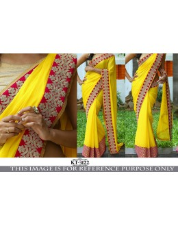 Bollywood Replica - Wedding Wear Yellow Saree - KT-3122