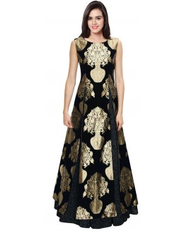 Bollywood Replica - Designer Black Jacquard Silk Lehenga Suit - LS03