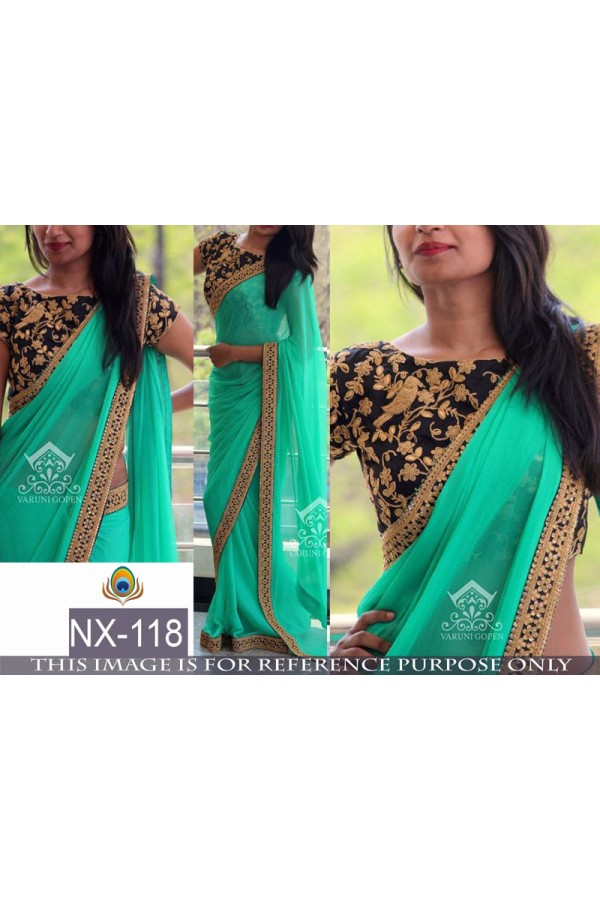 Bollywood Replica - Wedding Wear Sea Green Saree - NX-118