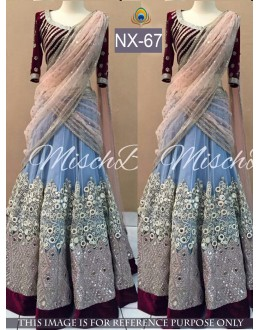 Bollywood Replica - Wedding Wear Blue Lehenga Choli - NX-67