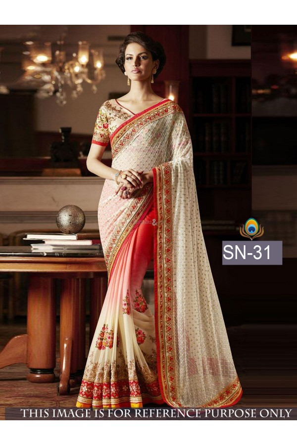 Bollywood Inspired - Fancy Party Wear Multi-Colour Saree - SN-31