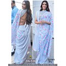 Bollywood Replica - Sonam Kapoor In Designer Blue Georgette Saree  - SN-538