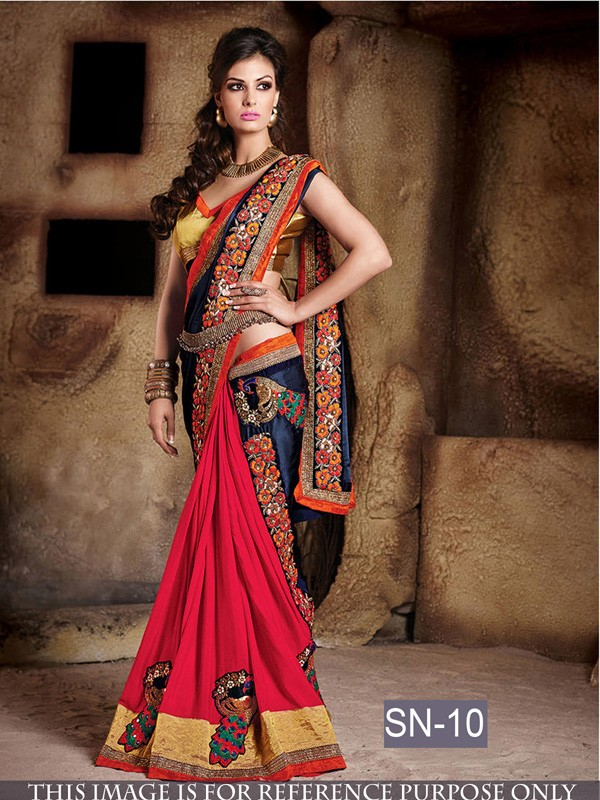 Bollywood Replica Designer Multi Colour Saree Sn 10