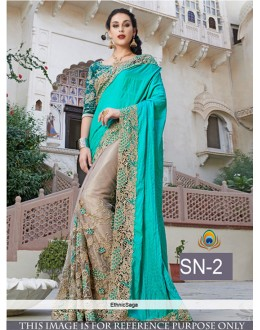 Bollywood Replica - Wedding Wear Blue Saree - SN-2