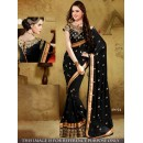 Bollywood Replica - Designer Black Georgette Saree - SN-5-A