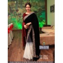Bollywood Replica - Sri Devi Black White Velvet Chiffon Saree - SN-518