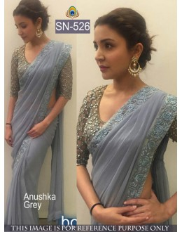 Bollywood Replica - Anushka Sharma Designer Grey Saree - SN-526