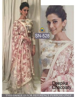 Bollywood Replica - Deepika Padukone In Off-White Lehenga Choli - SN-528