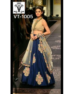 Bollywood Replica - Wedding Wear Blue & Beige Lehenga Choli - VT-1005