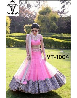 Bollywood Replica - Wedding Wear Pink Net Lehenga Choli - VT-1004