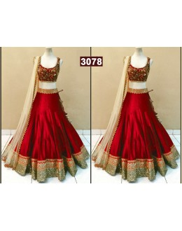 Bollywood Replica - Bridal Wear Maroon Lehenga Choli - 3078