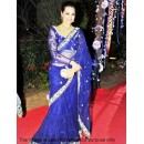 Bollywood Replica - Sonakshi Sinha Royal Blue Designer Saree D No.1403