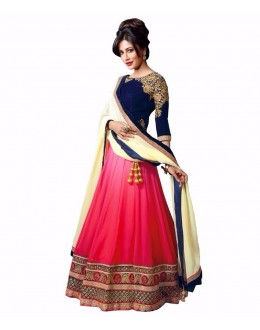 Chitrangada Singh In Pink & Blue Embroidered Lehenga Choli - 213