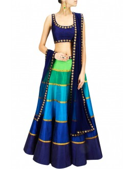 Party Wear Multi-Colour Lehenga Choli - 235