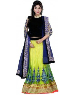 Wedding Wear Green & Blue Lehenga Choli - 233