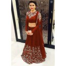 Wedding Wear Maroon Bhagalpuri Silk Lehenga Choli - 209